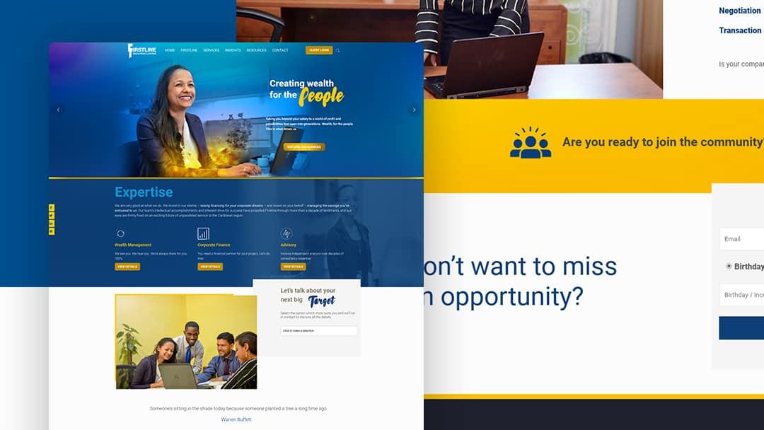 Website Design for Firstline Securities