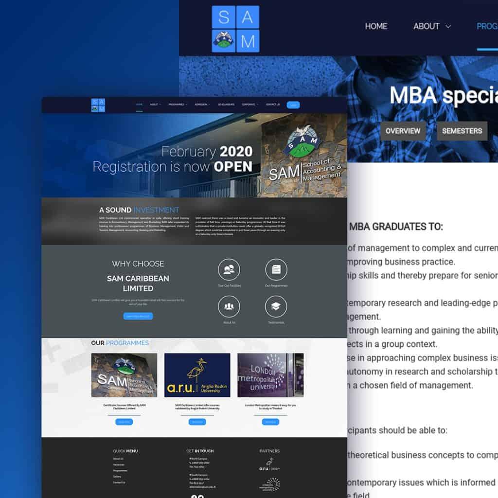 Website Design for SAMTT